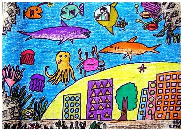 画一幅海底动物画